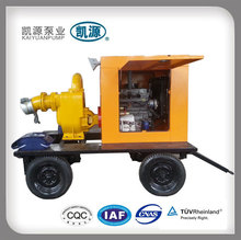 Steel trailer mounted diesel engine driven water pump, fire water pump