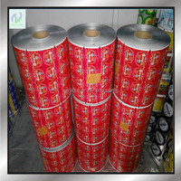 Laminated plastic packaging film roll