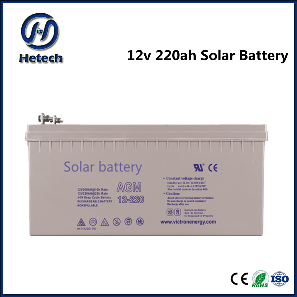 Deep cycle maintaince free cheap solar battery 12v 220ah with good price