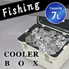 Cooler box7L Japan made portable fishing outdoor leisure plastic food wine insulated cooler bag Fisherman Pride cooler 100