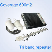 Tri-band network booster,2g/3g/4G mobile signal signal booster 3g repeater 900 1800 2100mhz