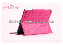 Super Lovely Magic Girl Leather Case Smart Cover For iPad2/3/4 With Stand