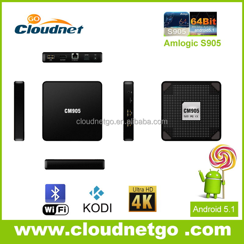 New arrival cloudnetgo M9 Amlogic S905 TV BOX 4k android5.1 Smart TV BOX full hd 1080p porn video