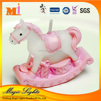 Personalized Pink Horse Birthday Candles for Children