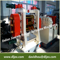 Fabric/PVC calendering machine and rigid PVC film calendering line made by Dalian Conveyor Belt Making Machinery