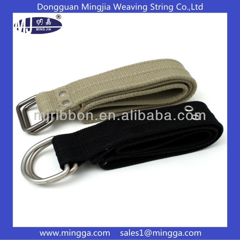 Military casual wear canvas web double D- ring fashion belt