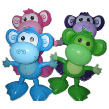 2017 best selling plastic inflatable monkey toy
