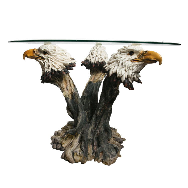 Modern Glass Top Coffee Table Resin Arts Living Room <strong>Furniture</strong>