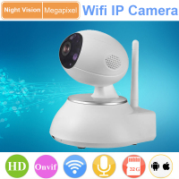 wifi ip camera P2P sanded surface 3D Noise Reduction 360 rotation support motion detect SD Card H.264 Onvif 2.0
