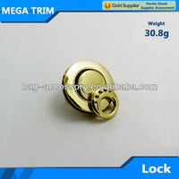 MEGA High quality round shape handbag metal twist lock