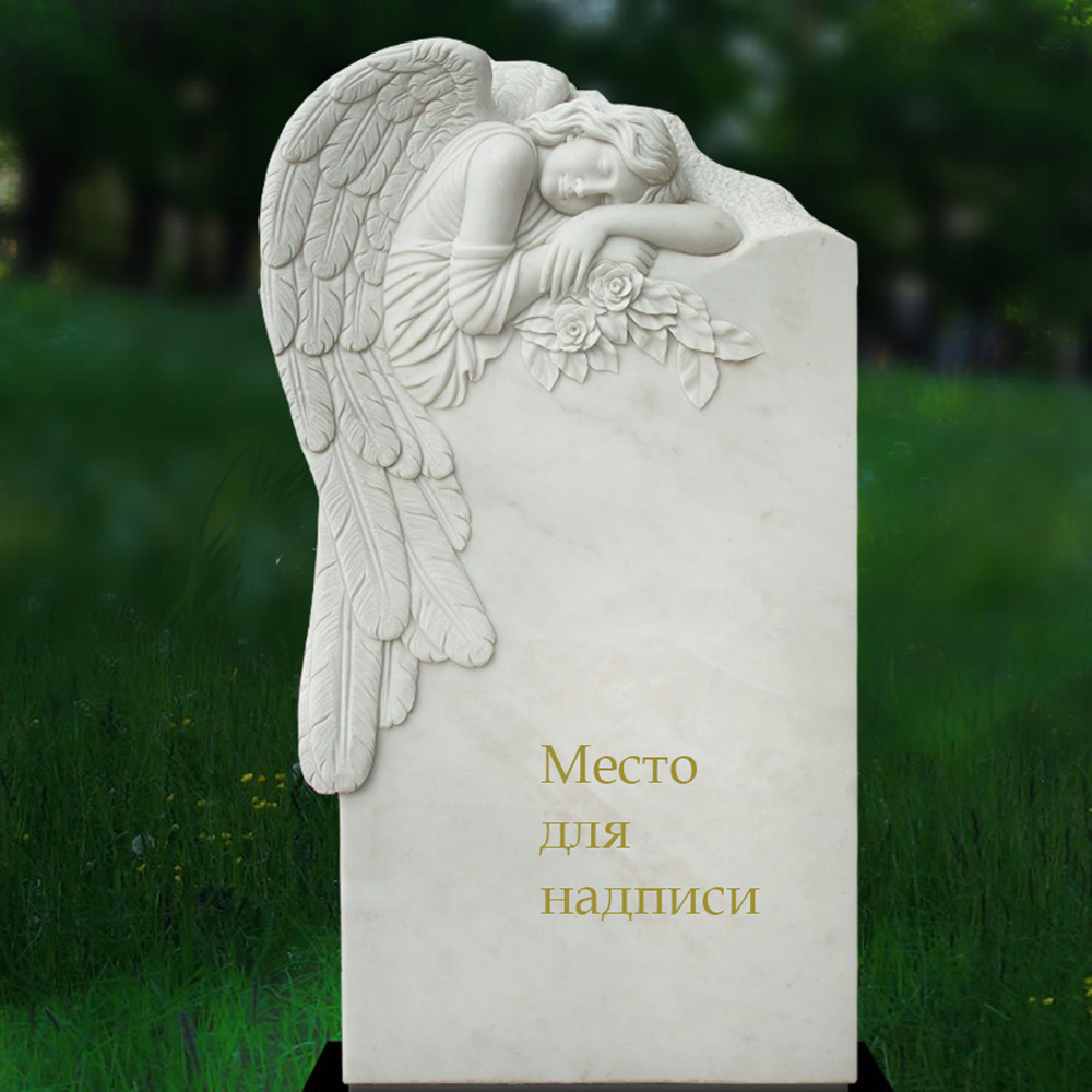 Modern hand carved marble dove sculpture tombstone China supply