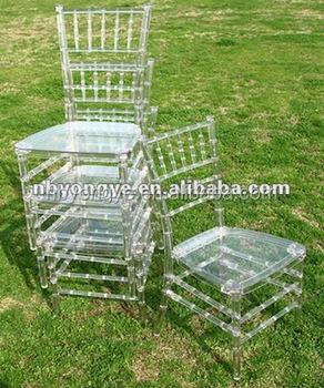 High quality Acrylic Clear Chair in chiavari tiffany style