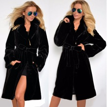 2016 Women Fashion Warm Winter Faux Fur Hooded Parka Long Coat Jacket winter coats High Quality winner