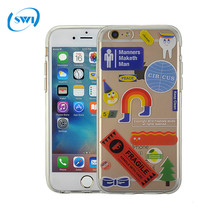 Wholesale cheap price custom solf clear TPU cell phone case for iphone 6g