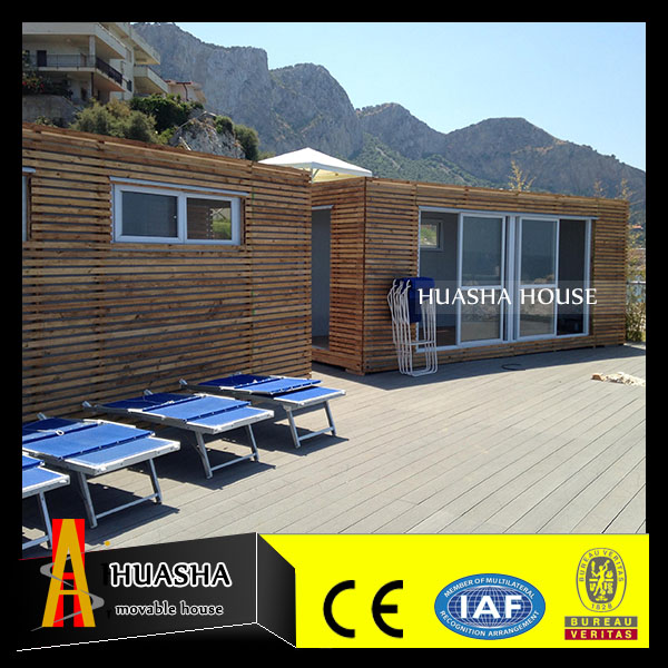 Quick easy assembly wooden prefabricated house and villas