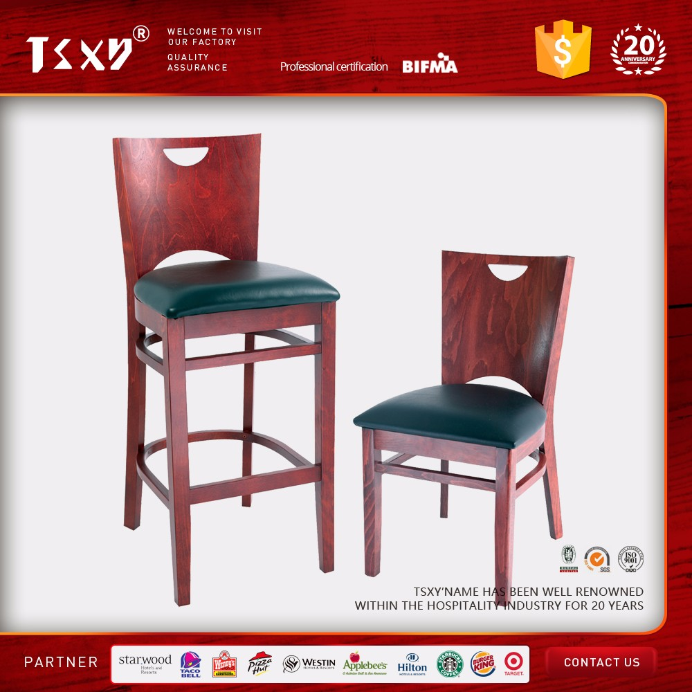 restaurant solid wood dining chair