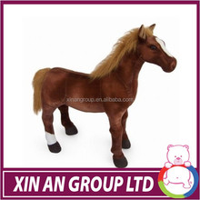 twinkle toys soft baby toy with musical pull string stuffed plush red horse toy
