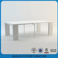 high end new design modern extendable wood dining table on wholesale