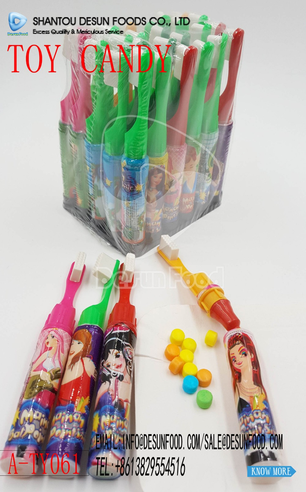 Toothbrush Pen Toy Candy toy