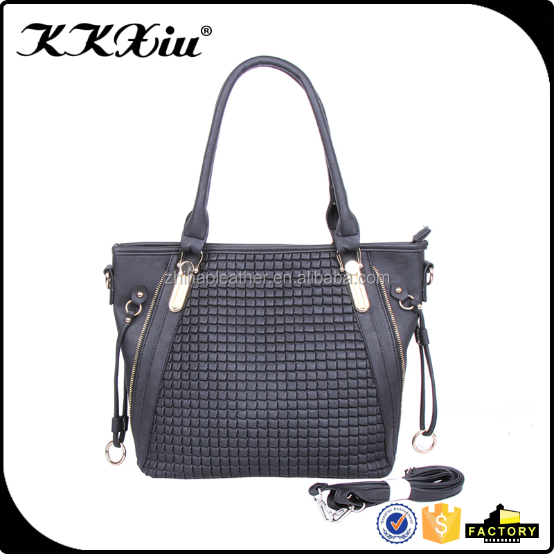 China manufacturer wholesale fashion PU leather shoulder bag for women on Guangzhou wholesale market
