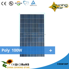 Chinashining Star good quality polycrystalline best solar panels 100Wp price for sale solar module for home
