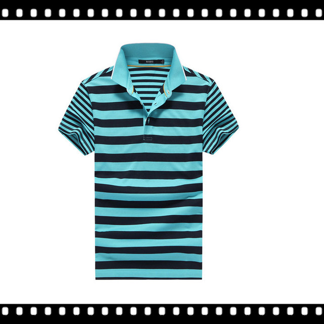 Different Colors Stripe Fancy Design Men's 100% Polo T-Shirt