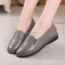 Women loafers flat shoes summer comfortable soft genuine leather shoes
