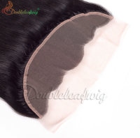 7A Brazilian Straight Lace Frontal Closure Silky Straight Virgin Human Hair 13x4 Lace Frontal Bleached Knots Free Middle 3 Part