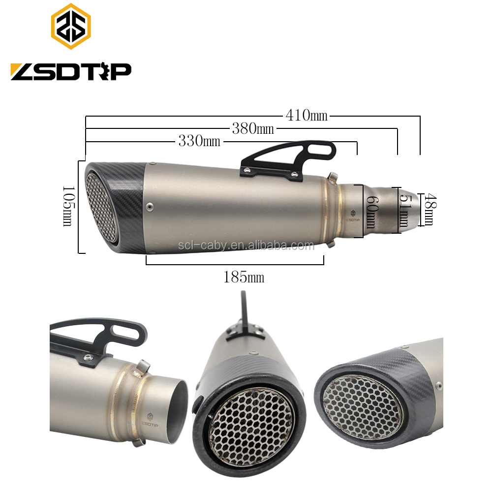 Newest Universal Motorcycle Scooter Motocross Exhaust Muffler GY6 Dirt Bike Exhaust YZF <strong>R1</strong> FZ6 NINJA300 Z800 Z1000