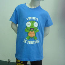 Printing turtle tshirts for children