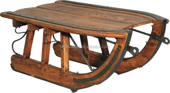wholesale wooden vintage furniture Logging Sled Coffee Table