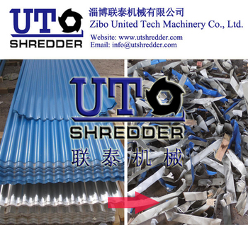 steel shredder/ PPGI shredder/ High capacity factory price Double Shaft Shredder/ Dual Shear Shredder/ Two Rotor Crusher/metal