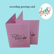wholesale 2018 voice recordable greeting card for promotional gift