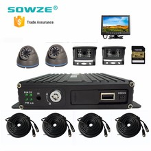 bus cctv camera/waterproof ir vehicle cameras/mobile dvr with 4g gps tracking system