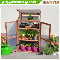 garden small greenhouse , wood cold frame