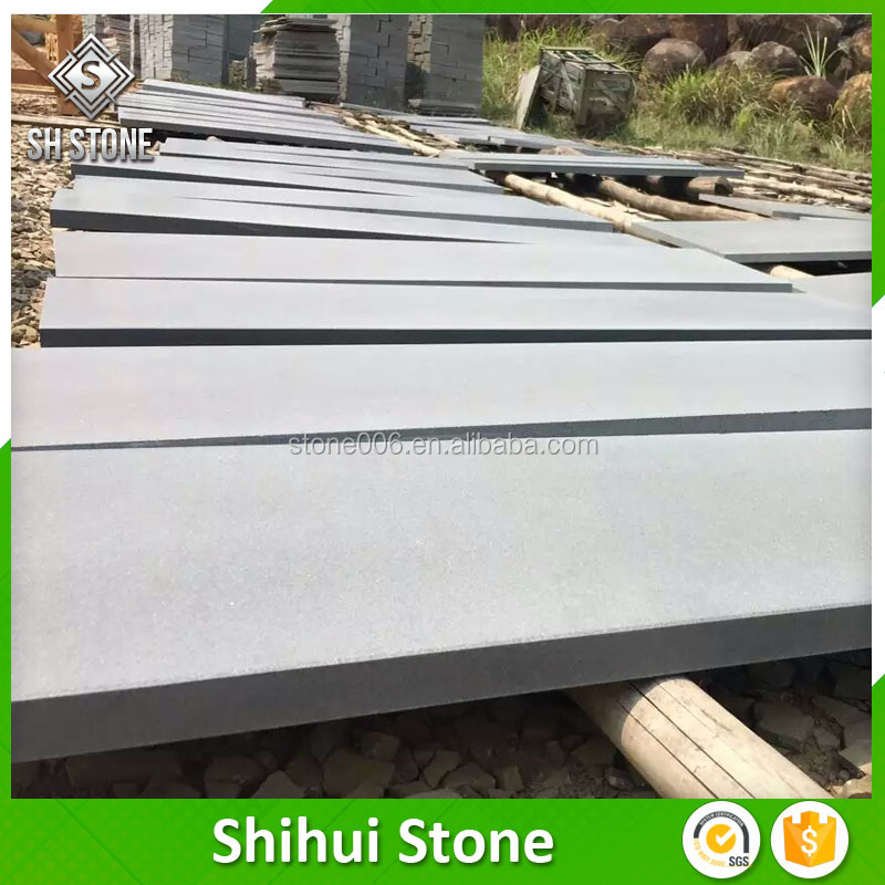 Top Quality Custom Design Honed Grey Basalt Wall Stone