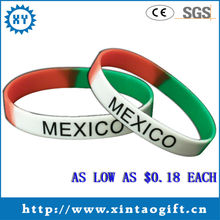 Fashion Jewelry Mexico Silicone Wristband Wholesale in China