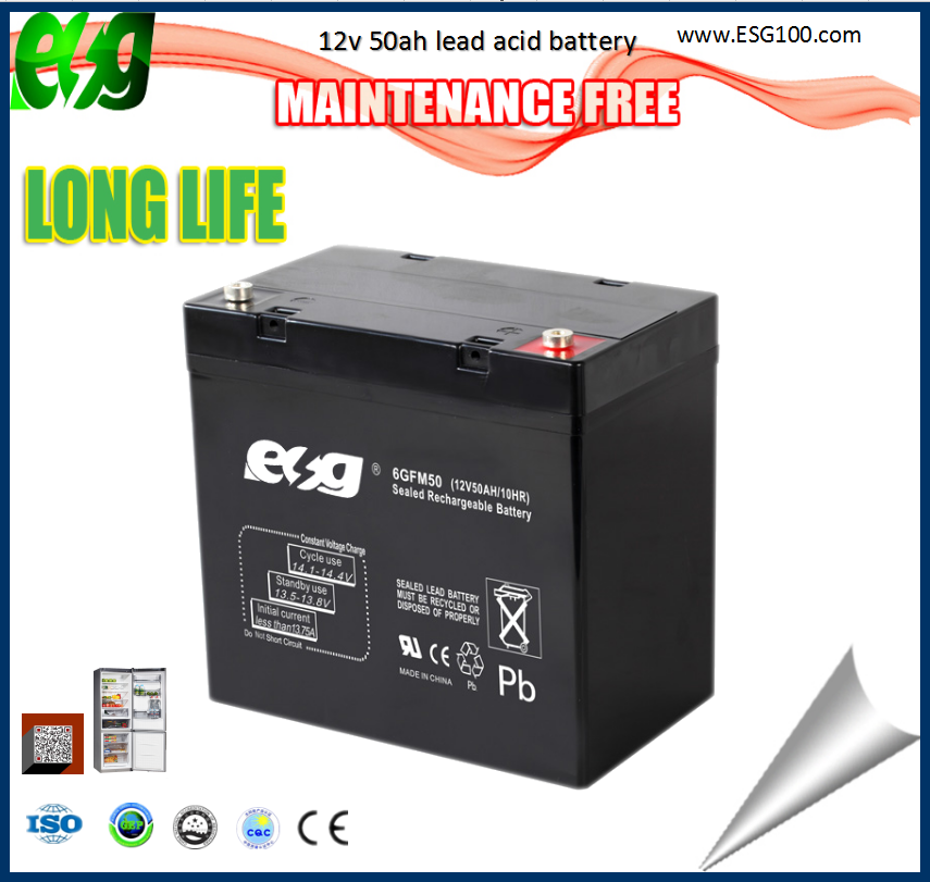 Rechargeable long life vrla agm 12v batteries 50ah Sunrise rechargeable batteries battery 12v 50ah