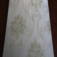 Newest curtain design embroidered sheer curtain fabric for living room short curtain