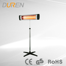 Waterproof Outdoor 2M Standing Infrared Patio Heater 1500W with remote control