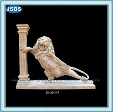 Hand Carved Stone Stand Lion Statue 2012