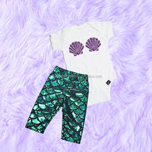 Newborn Babygirl Clothes Boutique Outfits Children's Clothes Set Shiny Shell Pattern