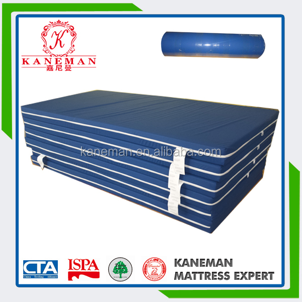 Waterproof and fireproof rebonded foam mattress with zipper