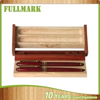 Wooden sunny antiquated look hot sale pen packaging box