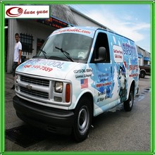 car wrap printed body and logo design vinyl