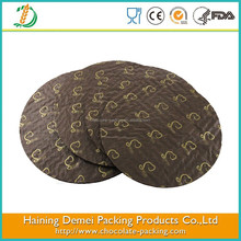 Brown round shape cake boards paper cushion pad made in China
