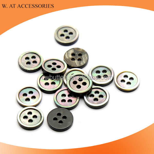 Natural black MOP button shell button for shirts