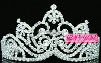 adult custom cheap tall pageant christmas tall pageant crown tiara