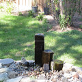 Outdoor basalt fountains