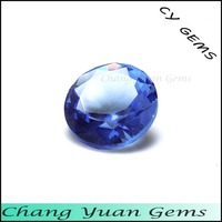 Beautiful water blue color Round shape glass stone